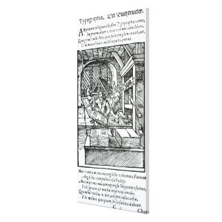 The Typographer, published by Hartman Schopper Canvas Print