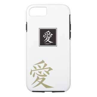 "The typography "" Love "" of kanji iPhone 7 Case"