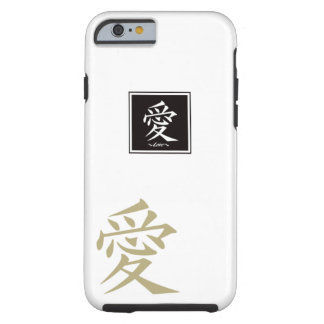 The typography of the Chinese character, love Tough iPhone 6 Case