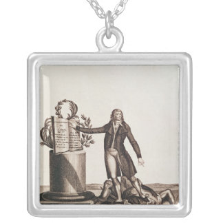 The Tyrant of the Revolution Crushed Silver Plated Necklace