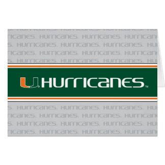 The U Hurricanes Card