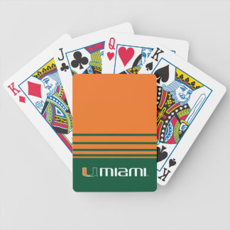 The U Miami Bicycle Playing Cards