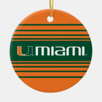 The U Miami Ceramic Ornament