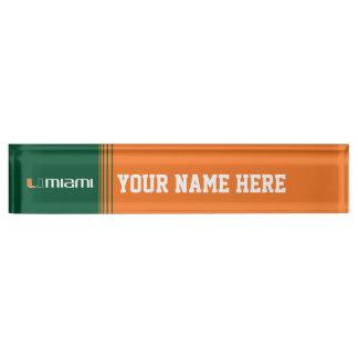 The U Miami Desk Name Plate
