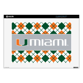 The U Miami Laptop Decal