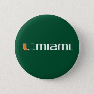 The U Miami Pinback Button