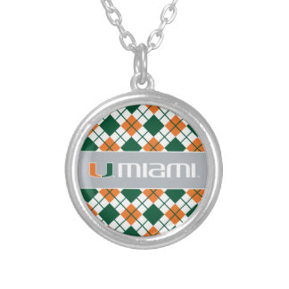 The U Miami Silver Plated Necklace