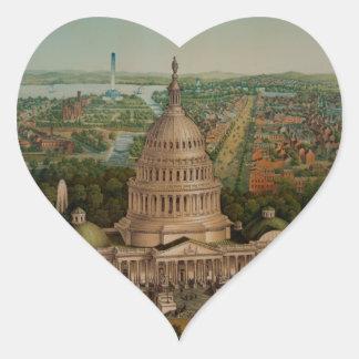 The U.S. Capitol Building Heart Sticker