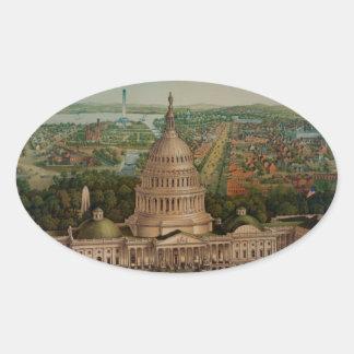 The U.S. Capitol Building Oval Sticker