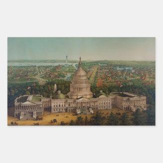 The U.S. Capitol Building Rectangular Sticker