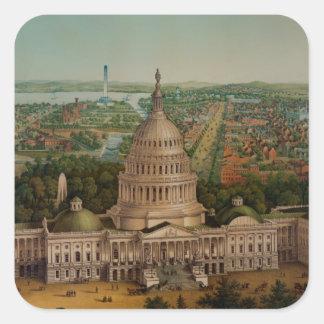 The U.S. Capitol Building Square Sticker