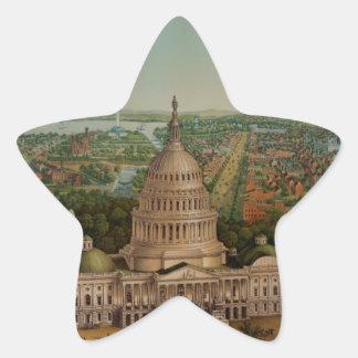 The U.S. Capitol Building Star Sticker