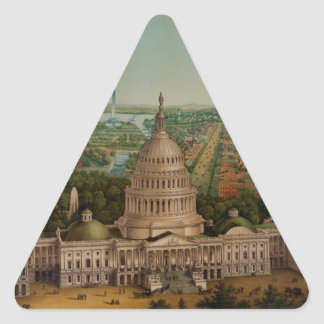 The U.S. Capitol Building Triangle Sticker