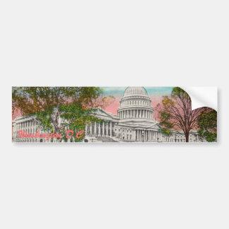 The U.S. Capitol Vintage Bumper Sticker Car Bumper Sticker