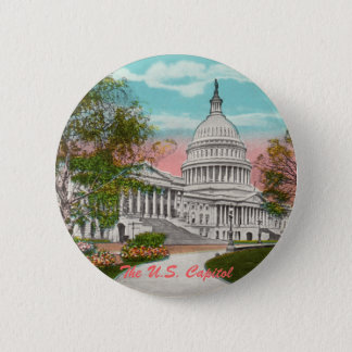 The U.S. Capitol Vintage Button