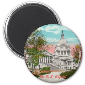 The U.S. Capitol Vintage Magnet