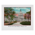 The U.S. Capitol Vintage Poster