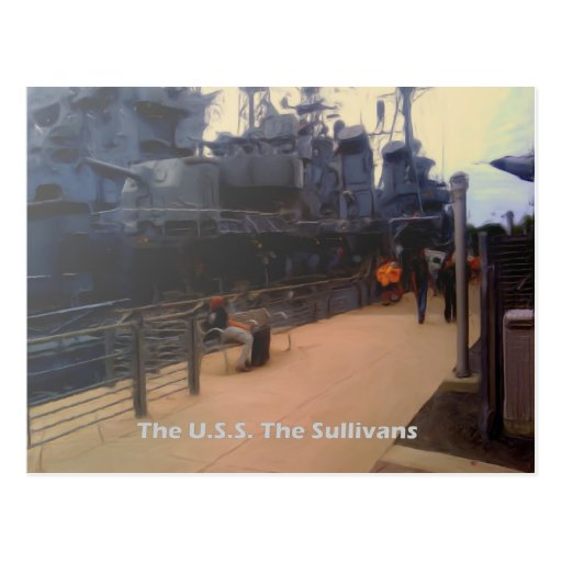 The U.S.S. The Sullivans (DD-537) Postcards