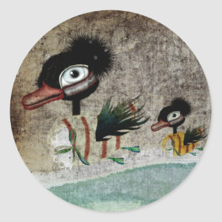 The Ugly Duckling fairytale vintage sticker
