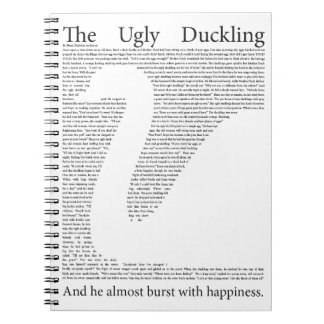 The Ugly Duckling Inspirational Notebook Note Book