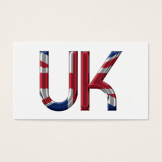 The UK Union Jack British Flag Typography Elegant Business Card