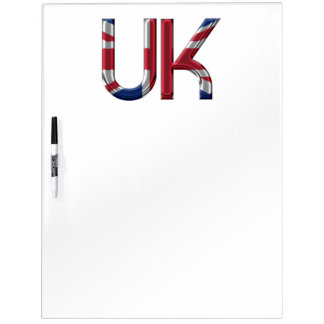 The UK Union Jack British Flag Typography Elegant Dry Erase Board