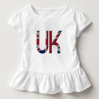 The UK Union Jack British Flag Typography Elegant Toddler T-shirt
