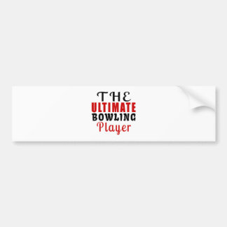 THE ULTIMATE BOWLING FIGHTER BUMPER STICKER