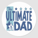 The Ultimate Dad Blue Round Stickers