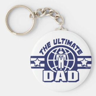 The Ultimate Dad Logo Gear Basic Round Button Keychain