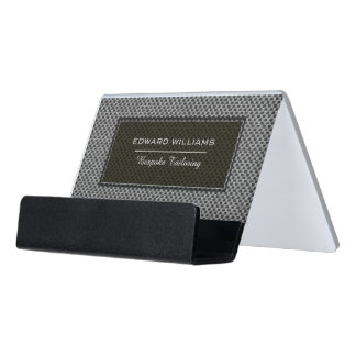The Ultimate Experience Bespoke Men's Tailoring Desk Business Card Holder