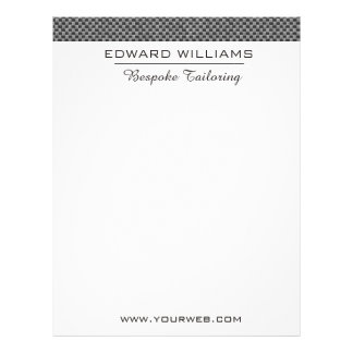 The Ultimate Experience Bespoke Tailoring Custom Letterhead