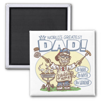 The Ultimate Grill Dad Gear Magnet