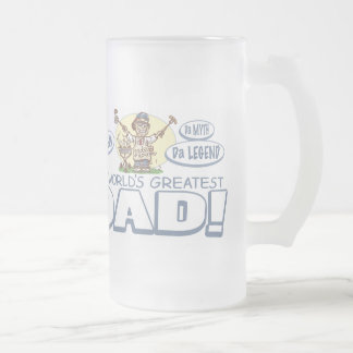 The Ultimate Grill Dad Gear 16 Oz Frosted Glass Beer Mug