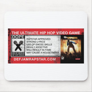 The Ultimate Hip-Hop Video Game Mouse Pad