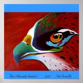 """The Ultimate Hunter""    hawk art print"
