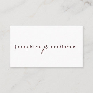 The Ultimate Minimalist Business Card