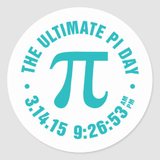 The Ultimate Pi Day 2015 Classic Round Sticker