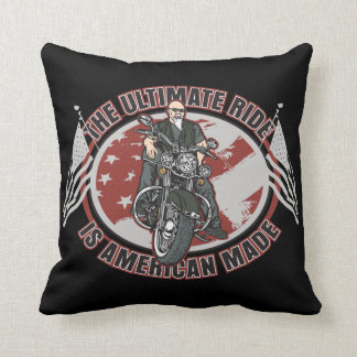 The Ultimate Ride is American Made Pillow Throw Pillow