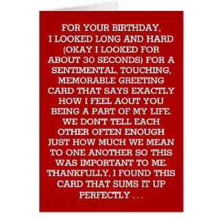 The Ultimate Sentimental Birthday Message (Vodka) Card