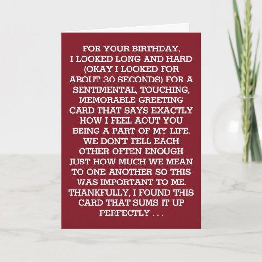 The Ultimate Sentimental Birthday Message Wine Card Zazzle