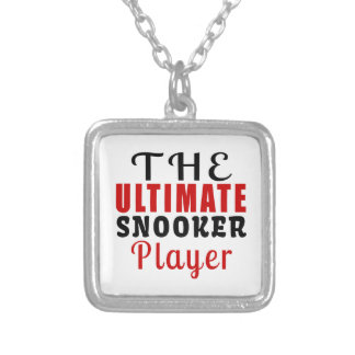 THE ULTIMATE SNOOKER FIGHTER SILVER PLATED NECKLACE
