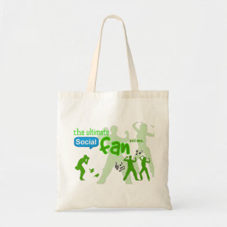 """""""The Ultimate Social Fan"""" game tote bag - add me!"""