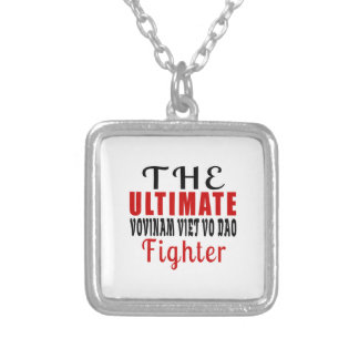 THE ULTIMATE VOVINAM VIET VO DAO  FIGHTER SILVER PLATED NECKLACE