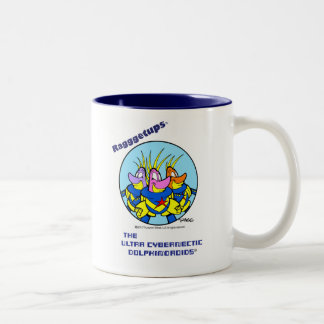 The Ultra Cybernectic Dolphindroids Two-Tone Coffee Mug