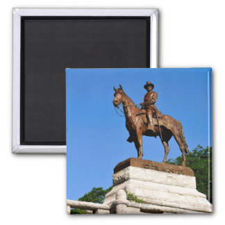 The Ulysses S. Grant statue atop the Grant 2 Inch Square Magnet