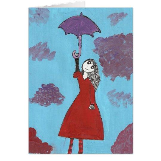 The Umbrella Girl Card