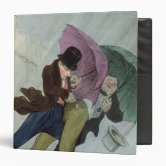 The Umbrella Trip, from 'Flibustiers Parisiens' 3 Ring Binder