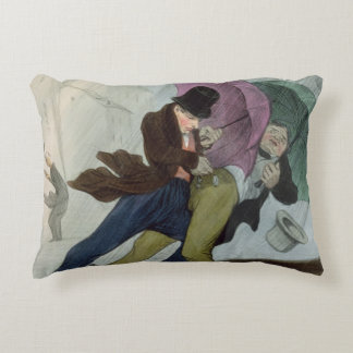 The Umbrella Trip, from 'Flibustiers Parisiens' Accent Pillow