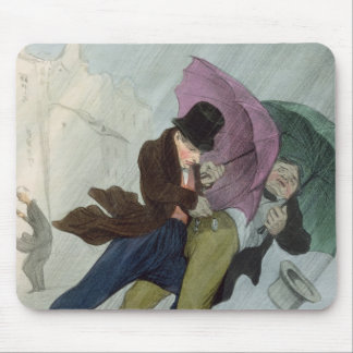 The Umbrella Trip, from 'Flibustiers Parisiens' Mouse Pad
